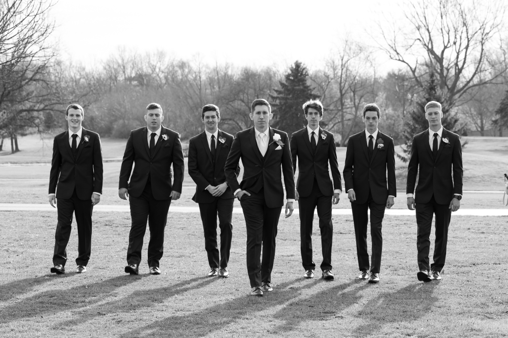 Groomsmen at Lexington kentucky wedding